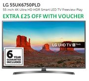 LG 55UK6750PLD 55 Inch 4K Ultra HD HDR Smart LED TV Freeview Play