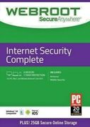 Webroot SecureAnywhere Internet Security COMPLETE, 5 Devices, 1 Year Protection
