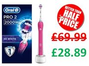 Oral-B Pro 2 2000 3D White Electric Toothbrush
