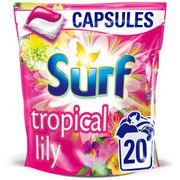 Surf Tropical Lily Washing Capsules 20 Wash 482g