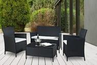4pc Rattan Outdoor Furniture Set - 3 Colours!