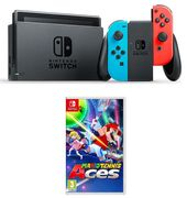 NINTENDO Switch Neon Red & Tennis Aces Bundle Only £299