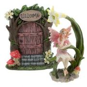 Ethereal Realm Woodland Fairy Door and Figurine