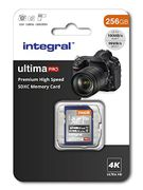 Integral 256GB SD Card Premium 4K High Speed 100mb/s
