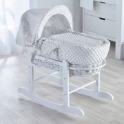 Kinder Valley White Wicker Moses Basket (Dimple White