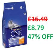 ALMOST 1/2 PRICE - Purina One - Coat & Hairball, Chicken, 3kg