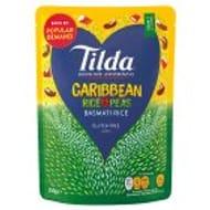 Tilda Caribbean Rice and Peas Basmati Rice 250g