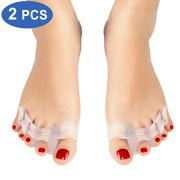Toe Separators for Overlapping Toes Gel Toe Corrector for Bent Toes, Hammer