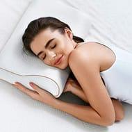 BedStory Ergonomic Orthopedic Pillow(15x23inch), Contour Gel Memory Foam Pillow