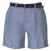 Pierre Cardin Belted Oxford Shorts Navy or Grey (Size M)