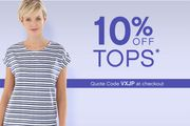 10% off Tops