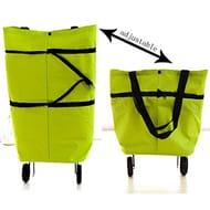 Foldable Reusable Bag Rolling Wheel Shopping Cart