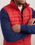 Men's Red Go to Lightweight Quilted Gilet - SAVE £33.00