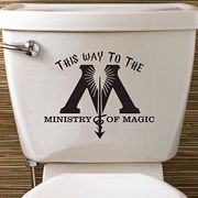 Epic Modz Harry Potter Inspired Ministry of Magic Toilet Vinyl Decal Sticker Loo