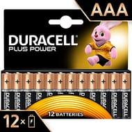 Duracell Plus Power AAA Alkaline Batteries (12 pack)