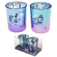Enchanted Seas Mermaid Set of 2 Glass Tea Light Votive Holders