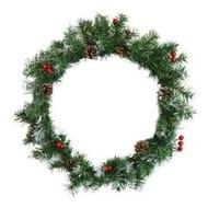 Harbour Housewares Traditional Christmas Door Wreath