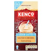 Kenco Instant Iced Salted Caramel Latte 8X21g