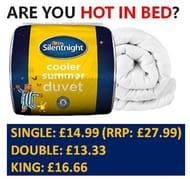 Silentnight Cooler Summer Duvet - 4.5 Tog - from £13.33