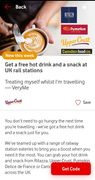 FREE Hot Drink and Snack (Pastry or Muffin) at Vodafone VeryMe Rewards