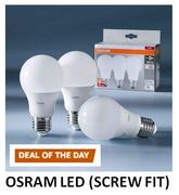 Osram LED Light Bulb 60W Replacement, Frosted, Pack of 3 - SCREW FIT