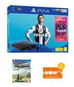 500GB PLAYSTATION 4 with FIFA 19 + NI NO KUNI 2 and NOW TV Only £239.99