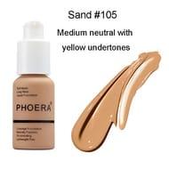 PHOERA Foundation Concealer Makeup Full Coverage (Sand)