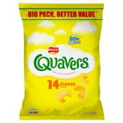 Walkers Quavers Cheese Flavour Light Curly Potato Snack 14X16G