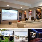 Foldable Anti-Crease Home Theatre Indoor/Outdoor Projector Screen for Movies Etc