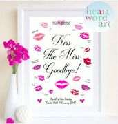 Hen Party Accesorie Kiss the Miss Goodbye