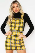 Mustard Yellow Dungarees Dress