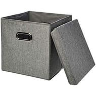 AmazonBasics Foldable Burlap Storage Cubes