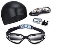 Swimming Goggles, Nose Clip, Swim Cap & Ear Plugs