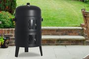3-in-1 round Smoker Charcoal BBQ