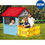 Luxury Playhouse with Picket Fence