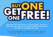 BUY-1-GET-1-FREE plus 10% off plus FREE DELIVERY Games and Movies