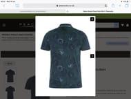 Mens Green Floral Polo Shirt