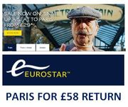 Come to Paris, Cherie! PARIS, LILLE or BRUSSELS Eurostar Deal