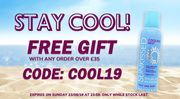 Free Cooling Sray with Orders over £35 with Code at Perfume Click