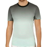 Striped T-Shirt Men - Lightgrey, White Art.-Nr. 00544210599000