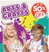 50% Arts and Crafts at The Entertainer