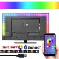 LED TV backlight,2M USB 5050 LED Strip Bias Lighting Wireless Blutooth APP