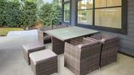 The London Rattan Chelsea Rattan Cube Dining Set (Grey)