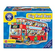 Big Red Bus Floor Jigsaw Puzzle