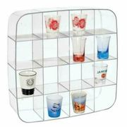 Wall Display Shelf Plastic Wall Shelf with 16 Display Compartments
