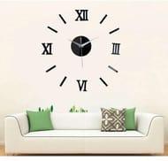 XL Roman Numeral 3D Mirrored Wall Clock - 4 Colours