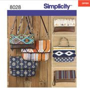 Simplicity Clutch Bags and Purses Sewing Pattern 8028