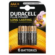 2 for £6 or £3.99 Duracell plus Power AAA Batteries 6pk