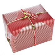 6x5m of Christmas Wrapping Festive Craft String Red Ribbon Green Tree