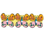 Liberty Childrens Kids Plastic Coat Robe Hat Peg Hooks -3- Butterflies
